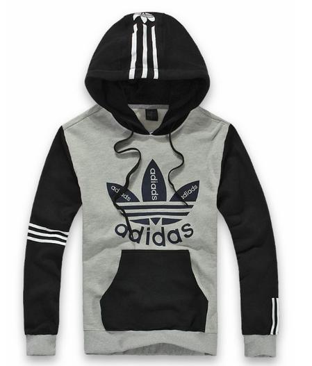 Blusa Canguru Adidas - Cinza Preta - MEGSUL IMPORTADOS 360c46685932f