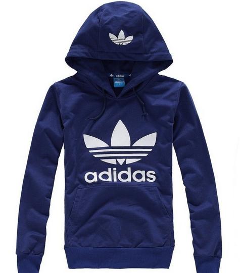 Blusa Canguru Adidas - Azul com estampa branca 1a4ffbcb16ee1